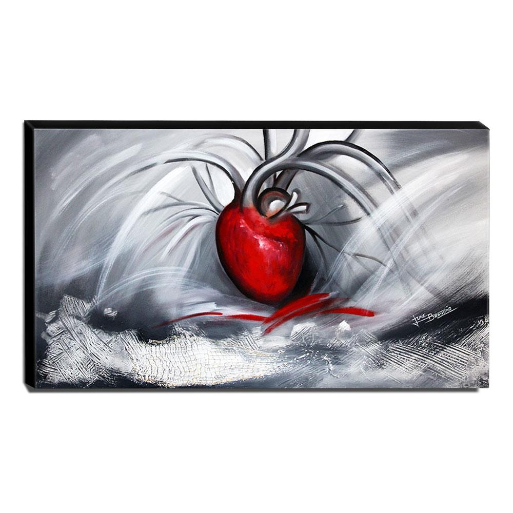 Quadro de Pintura Coração 60x105cm-1319