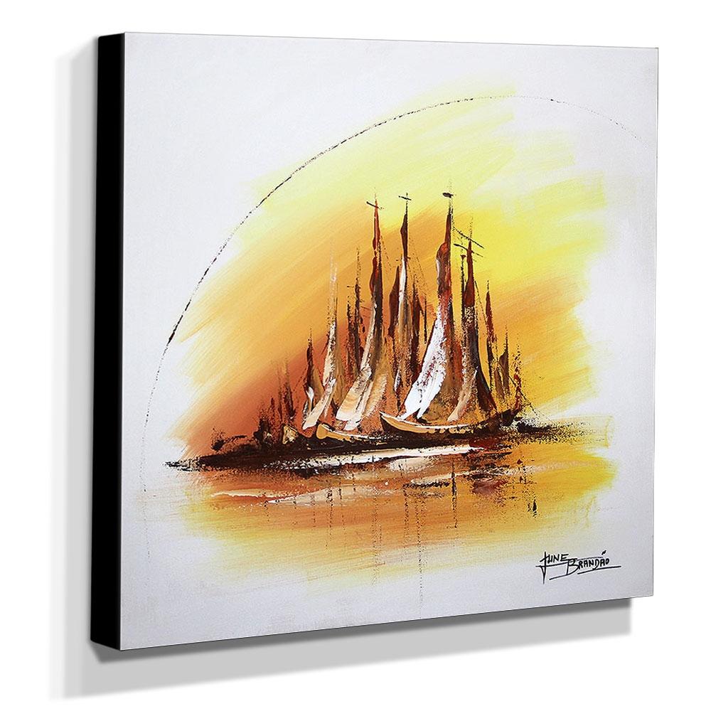 Quadro de Pintura Decorativo 60x60cm-1684