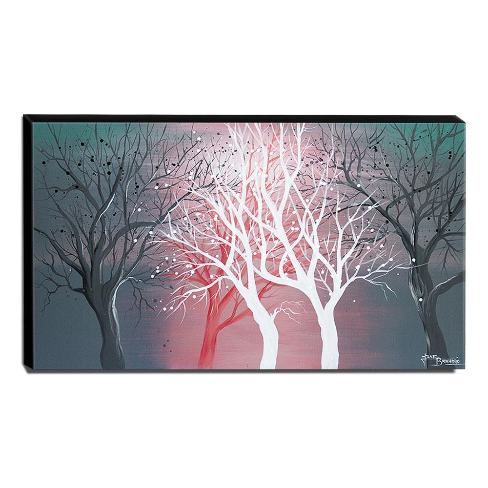 Quadro de Pintura Decorativo Árvores 60x105cm-1394
