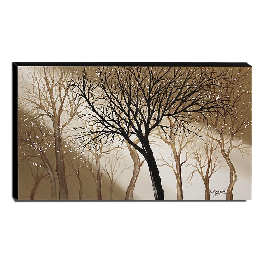 Quadro de Pintura Decorativo Árvores 70x120cm-1417