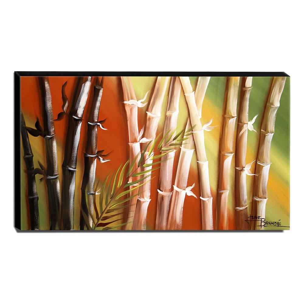Quadro de Pintura Decorativo Bambu 60x105cm-1476