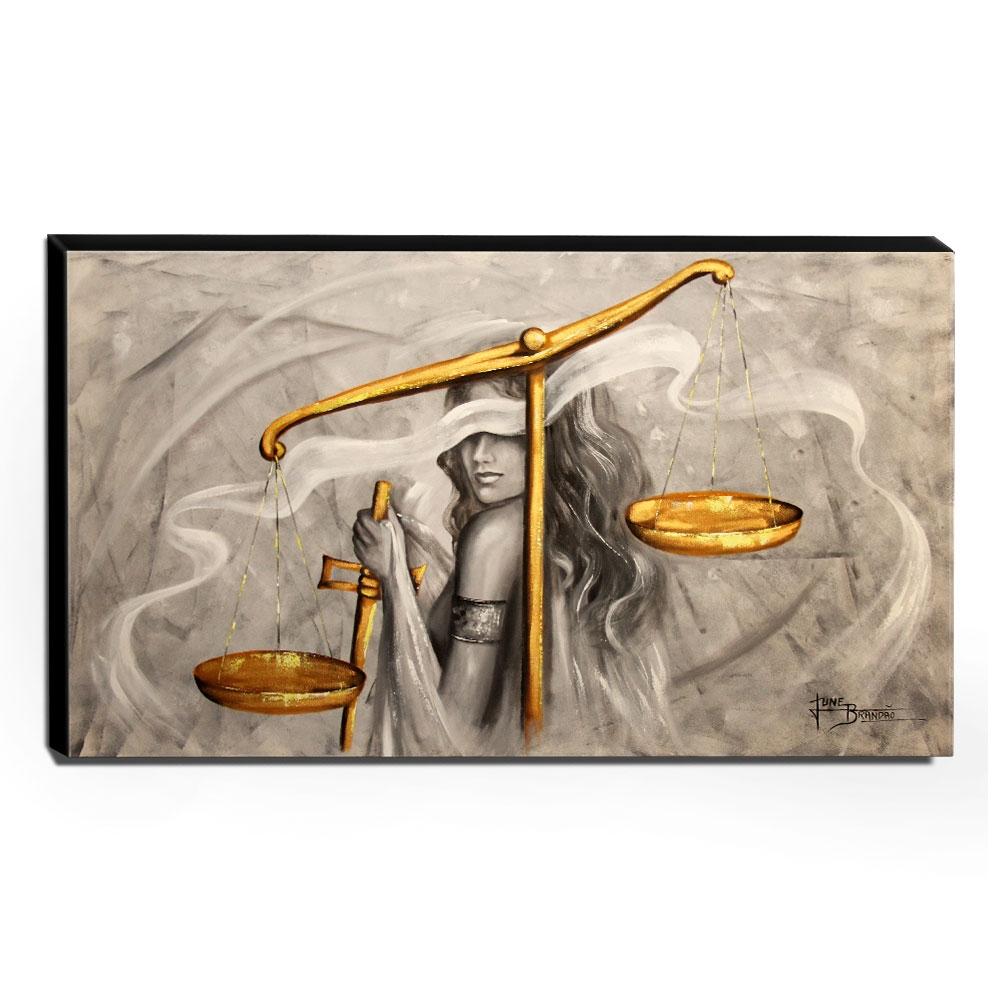 Quadro de Pintura Deusa da Justiça 70x120cm-1313