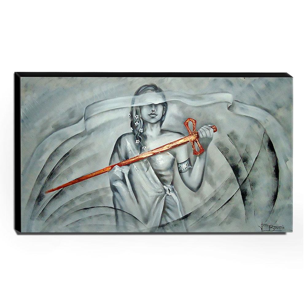 Quadro de Pintura Deusa Themis 70x120cm-0987