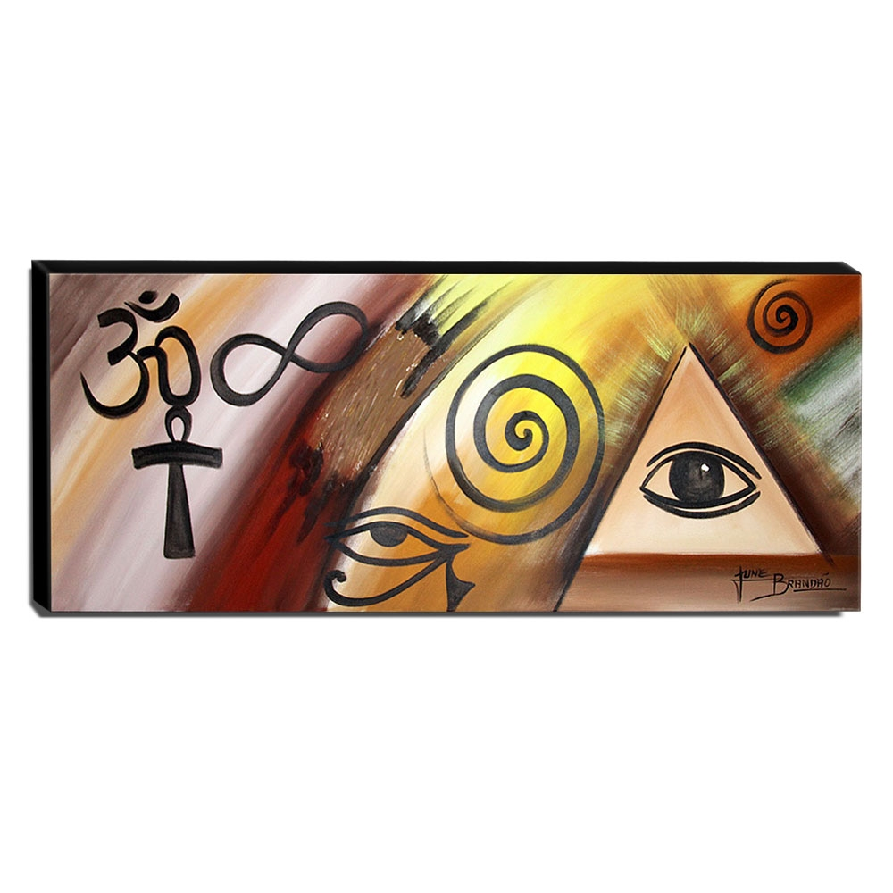 Quadro de Pintura Esotérico 40x105cm-1633