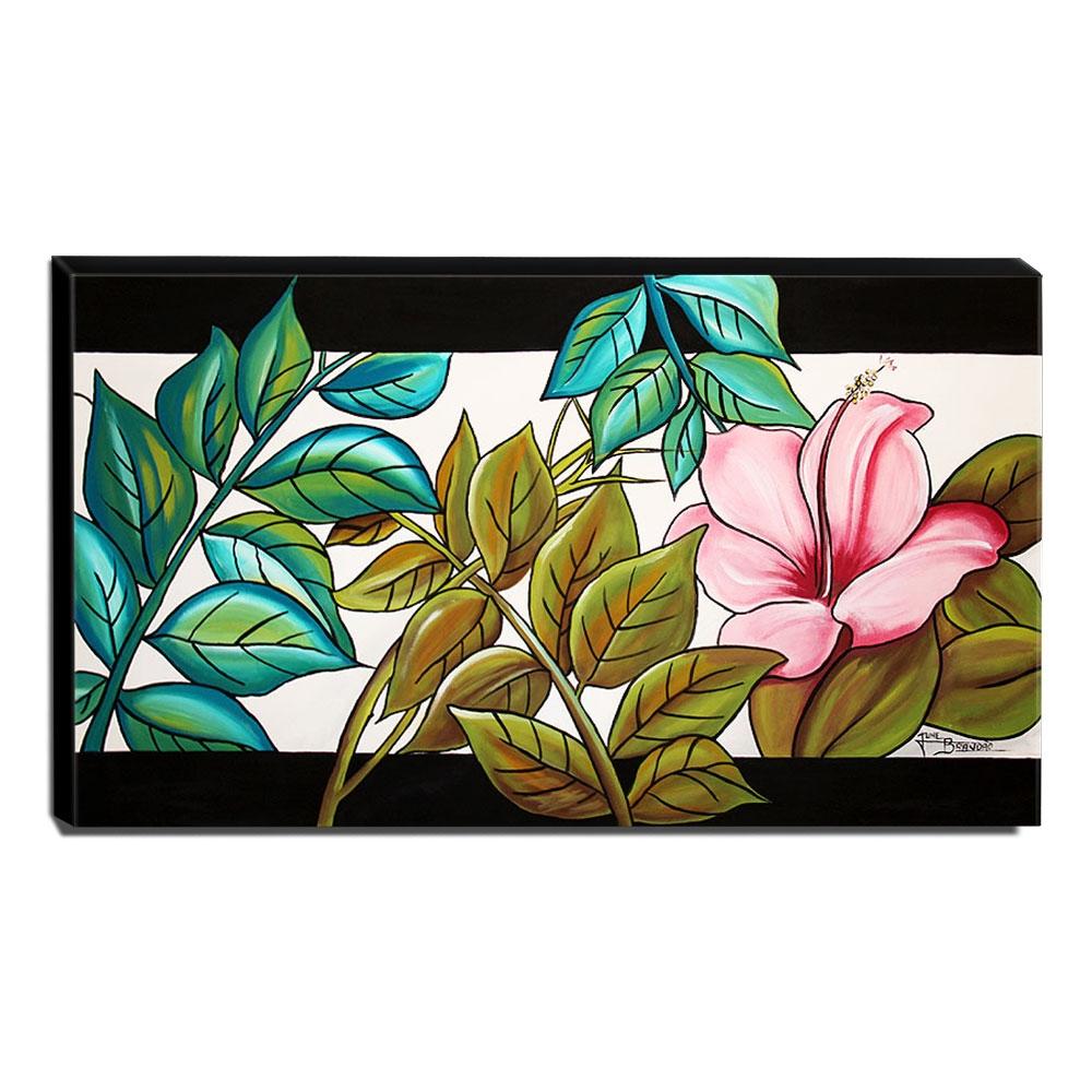 Quadro de Pintura Floral 60x105cm-1308