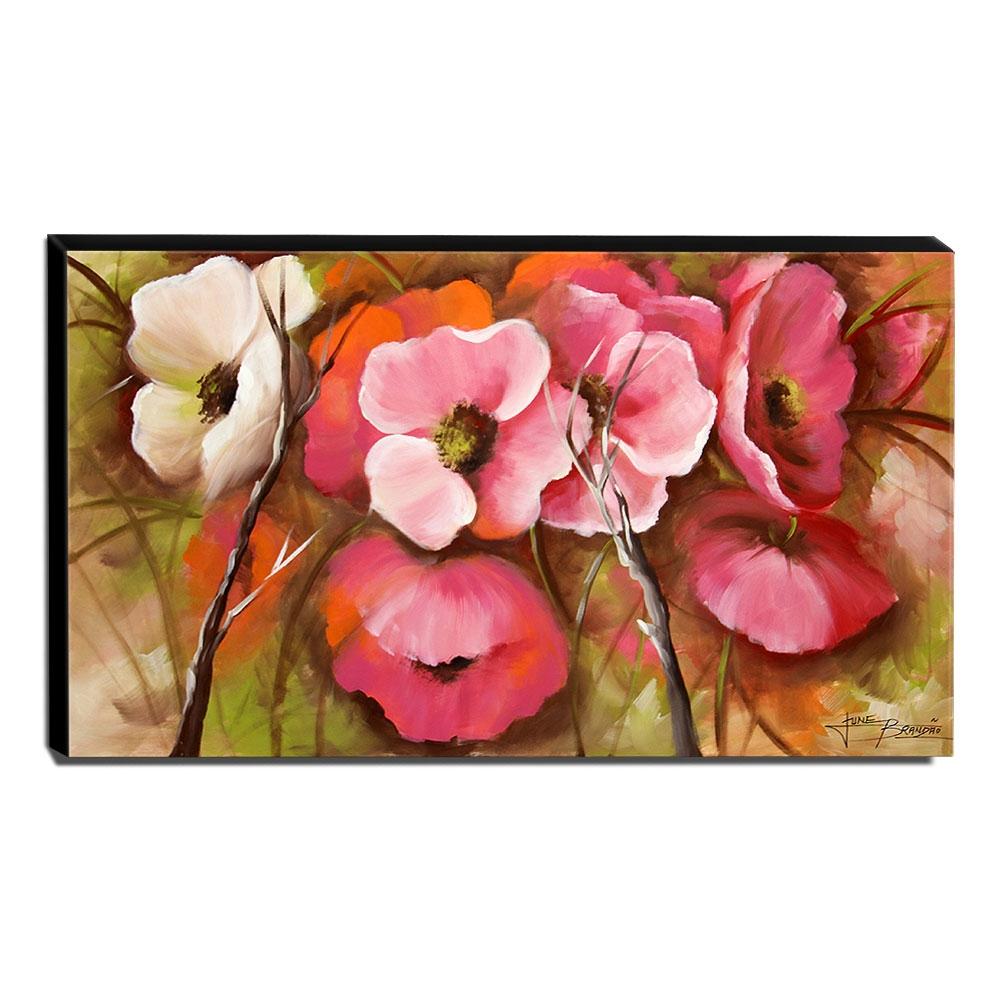 Quadro de Pintura Floral 60x105cm-1505