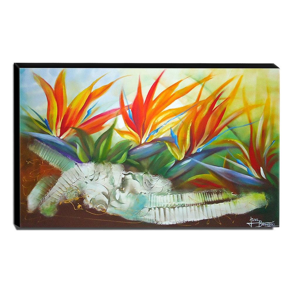 Quadro de Pintura Floral 70x110cm-0707