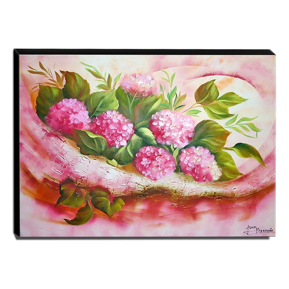 Quadro de Pintura Floral 70x90cm-0706