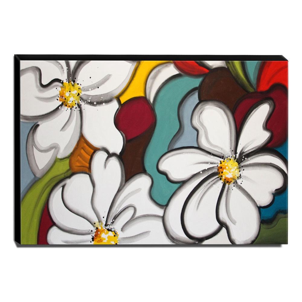 Quadro de Pintura Flores do Campo 80x120cm-1400