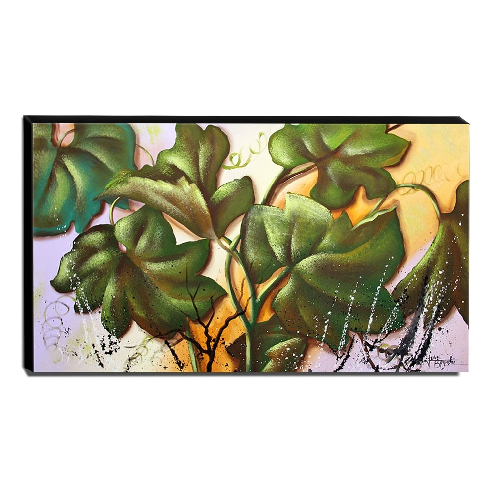 Quadro de Pintura Folhagens 60x105cm-1148