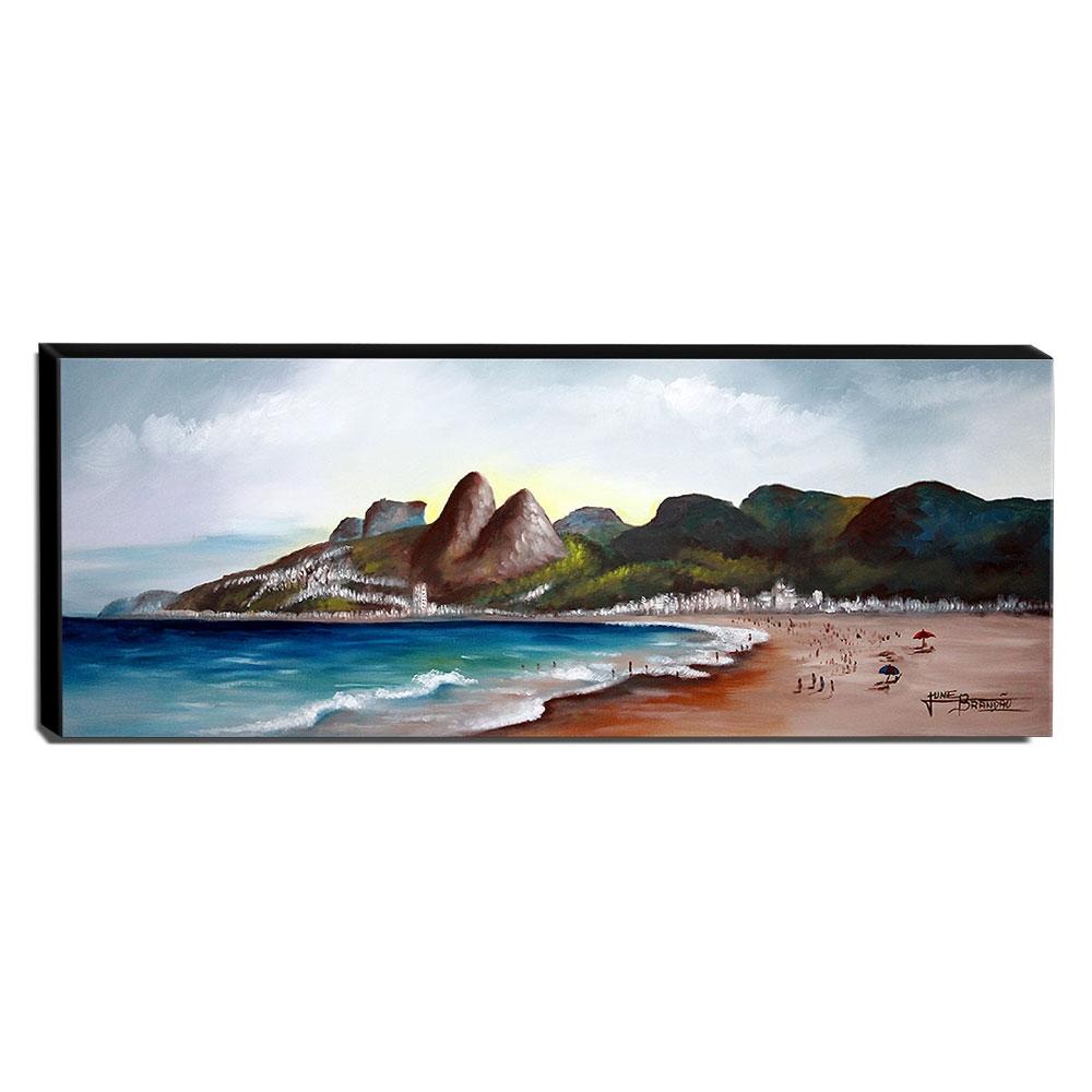 Quadro de Pintura Leblon Rio de Janeiro 40x105cm-1617
