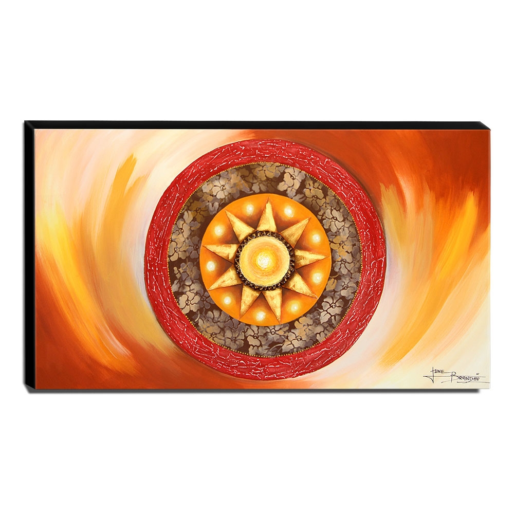 Quadro de Pintura Mandala 70x120cm-1503
