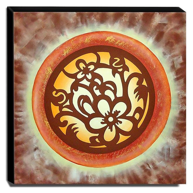Quadro de Pintura Mandala 70x70cm-0935