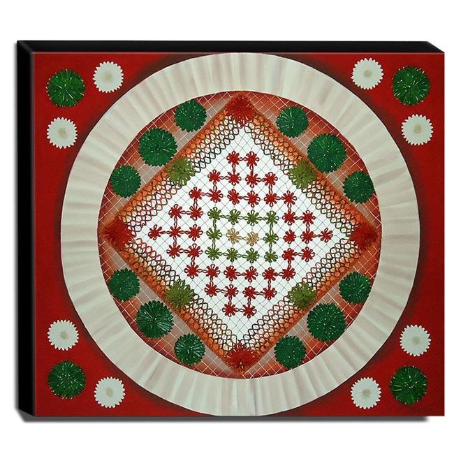 Quadro de Pintura Mandala 70x80cm-1070