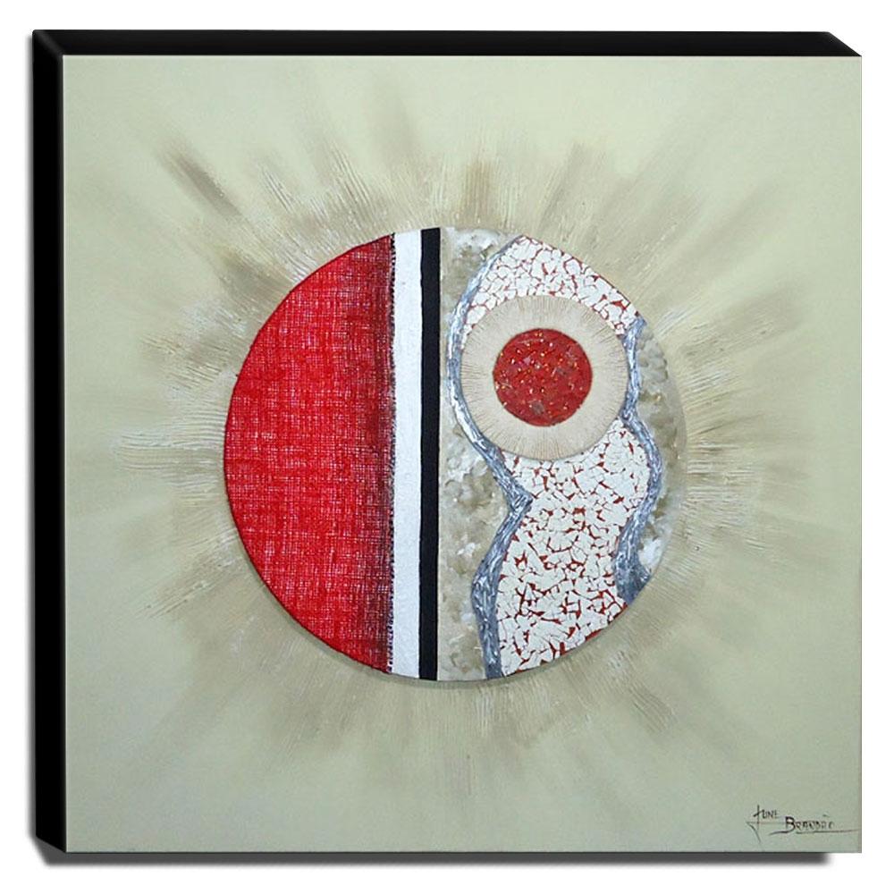 Quadro de Pintura Mandala 80x80cm-0906