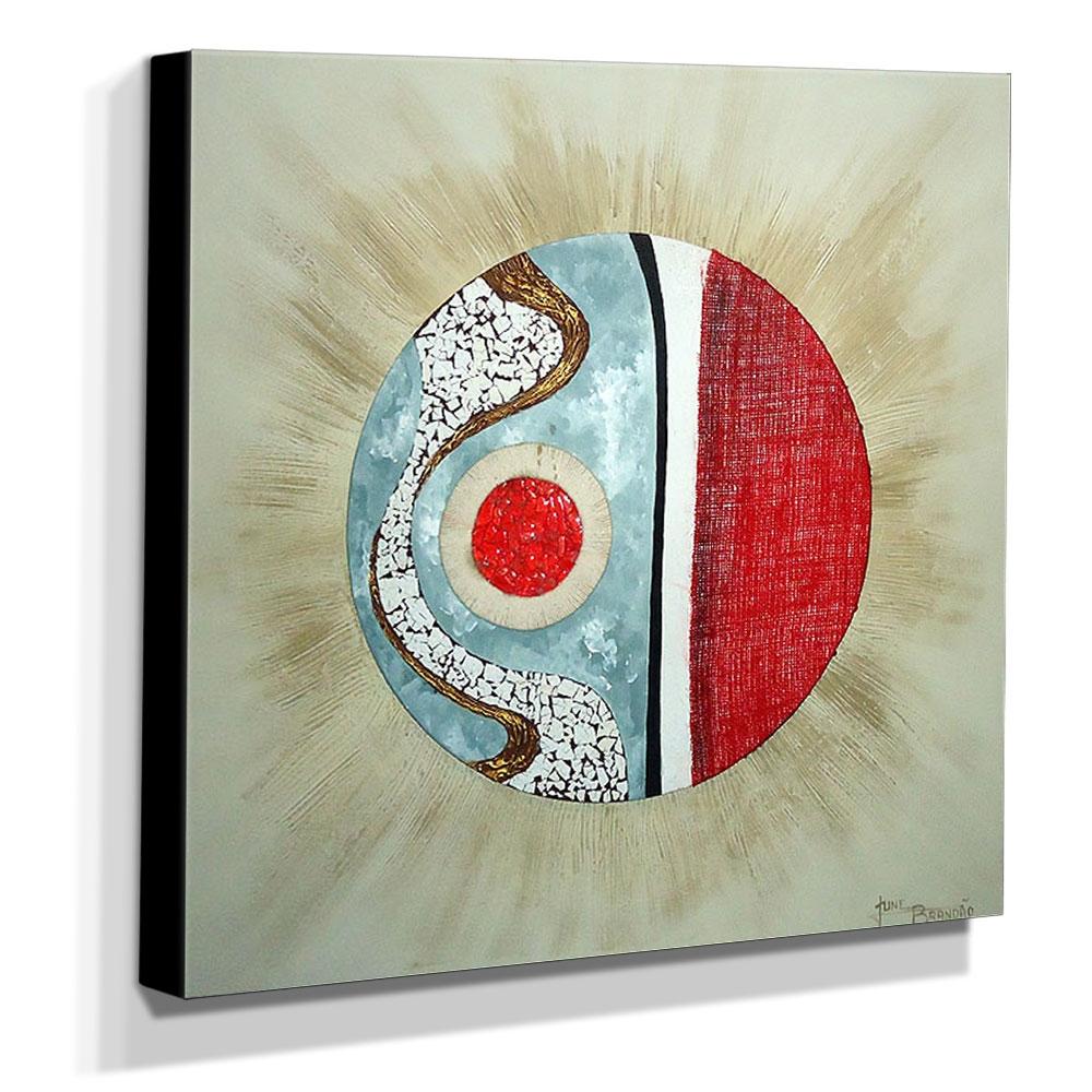 Quadro de Pintura Mandala 80x80cm-0943