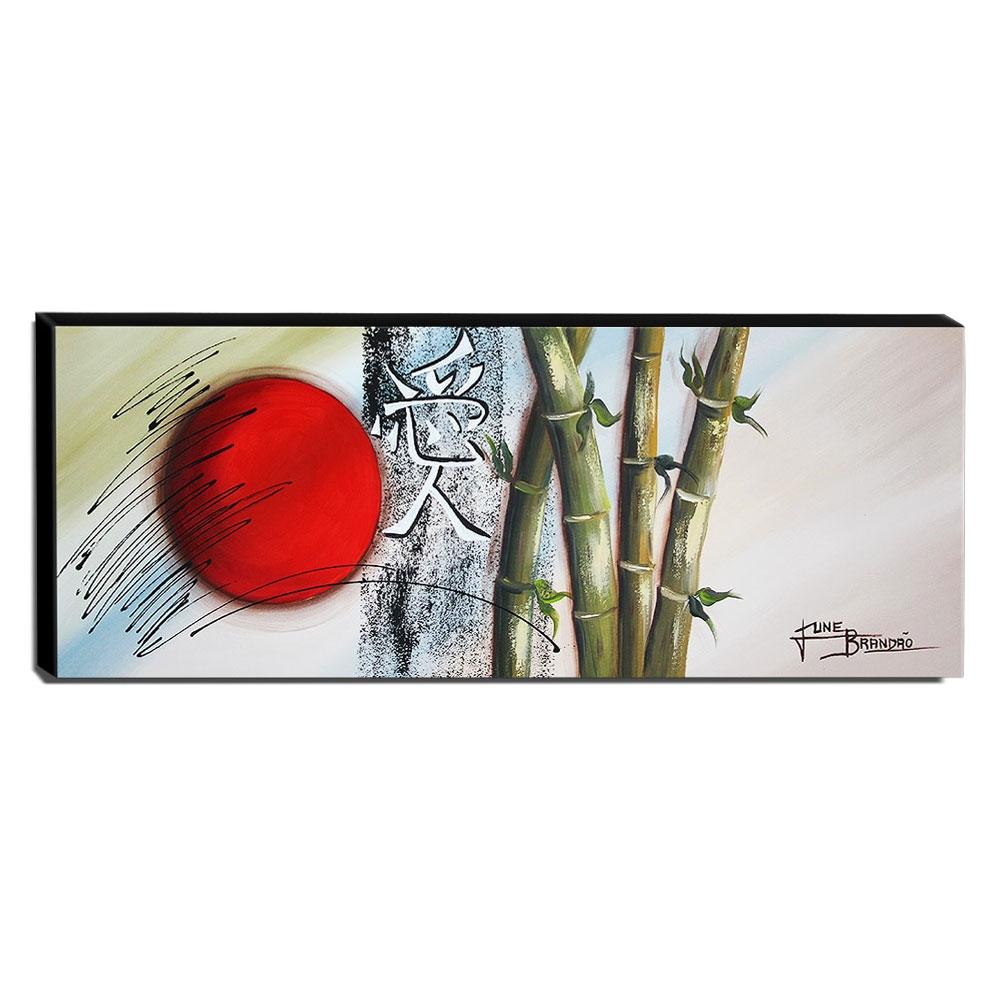 Quadro de Pintura Oriental 40x105cm-1640