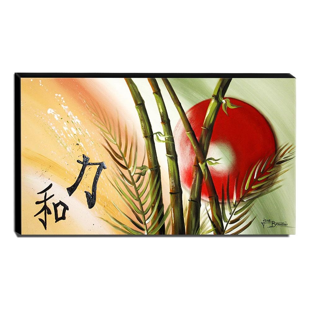 Quadro de Pintura Oriental 60x105cm-1302