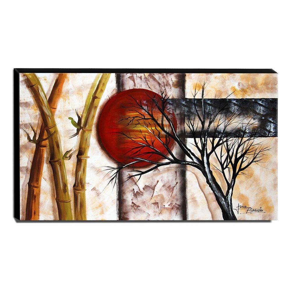 Quadro de Pintura Oriental 70x120cm-1579