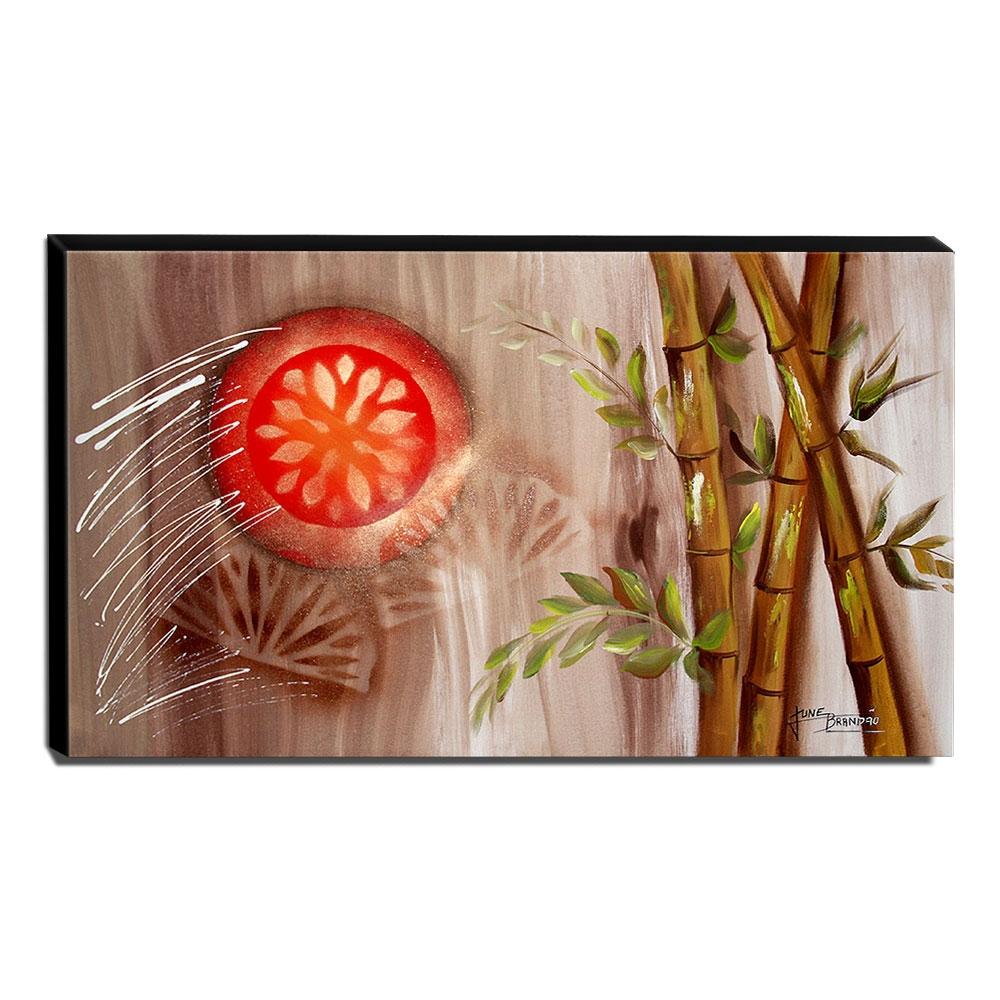 Quadro de Pintura Oriental 70x120cm-1599