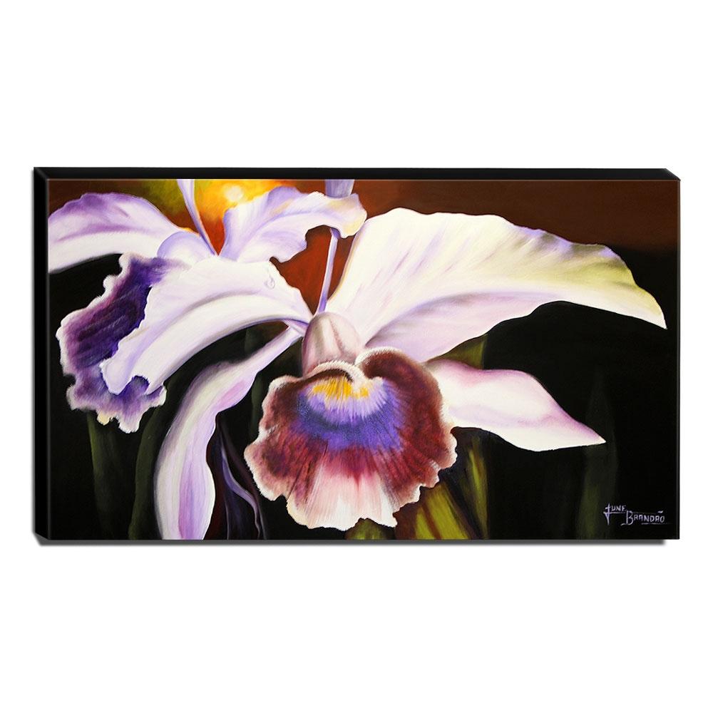 Quadro de Pintura Orquídea 70x120cm-1470