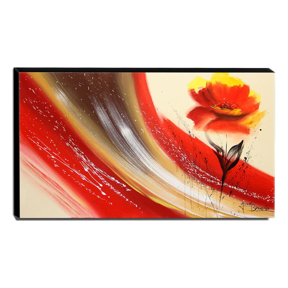 Quadro de Pintura Papoula 60x105cm-1475