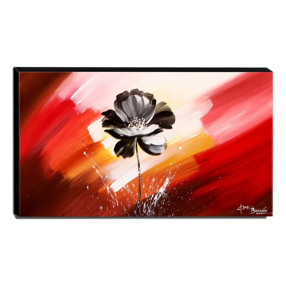 Quadro de Pintura Papoula 60x105cm-1554