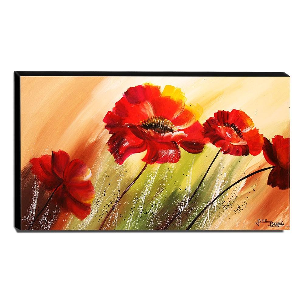 Quadro de Pintura Papoulas 70x120cm-1533