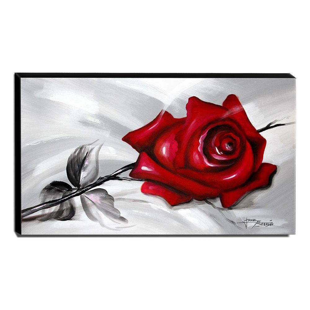 Quadro de Pintura Rosa Vermelha 60x105cm-1562