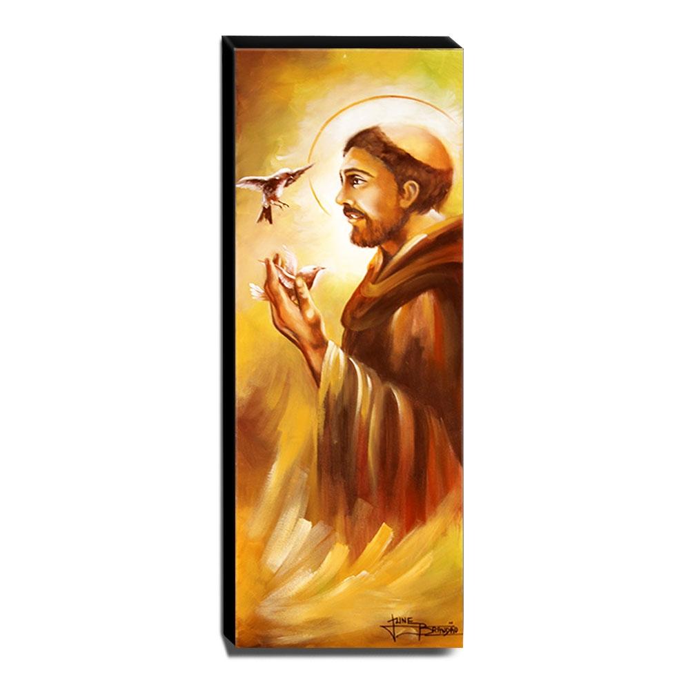 Quadro de Pintura São Francisco de Assis 105x35cm-1496