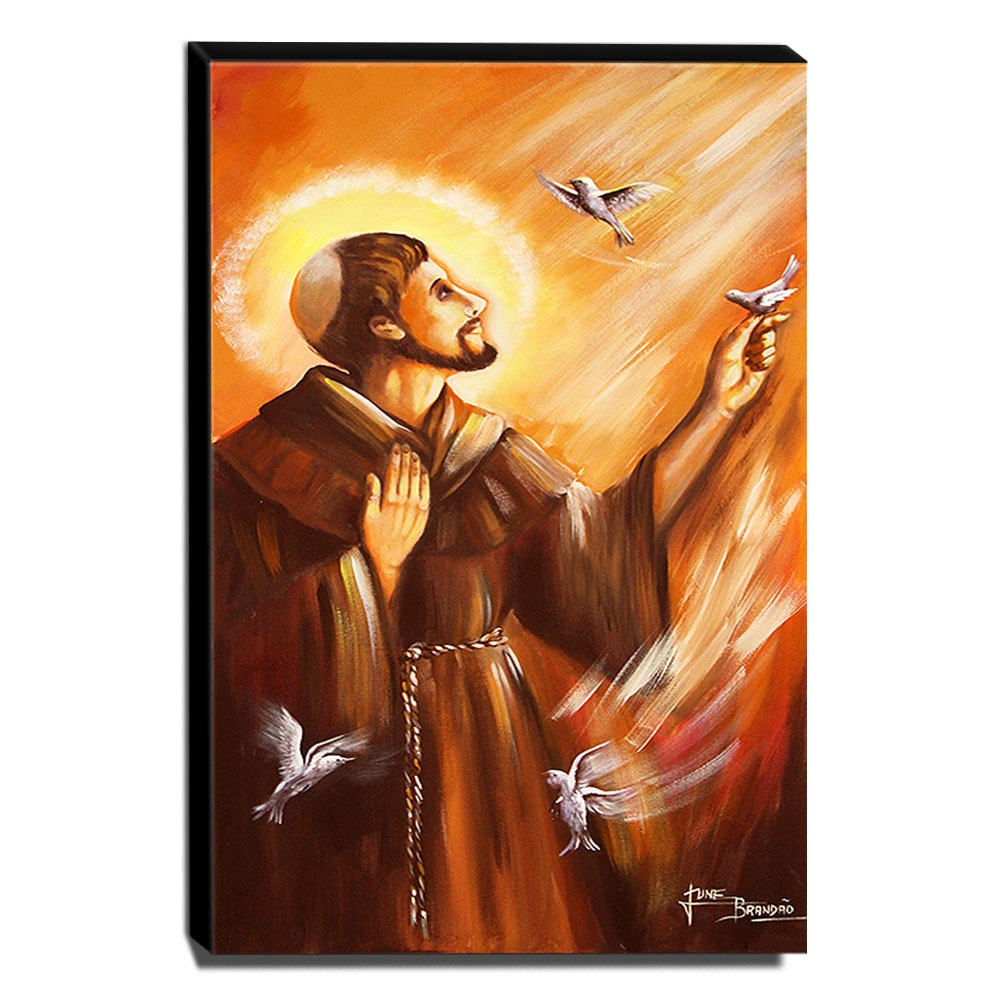 Quadro de Pintura São Francisco de Assis 105x60cm-1518