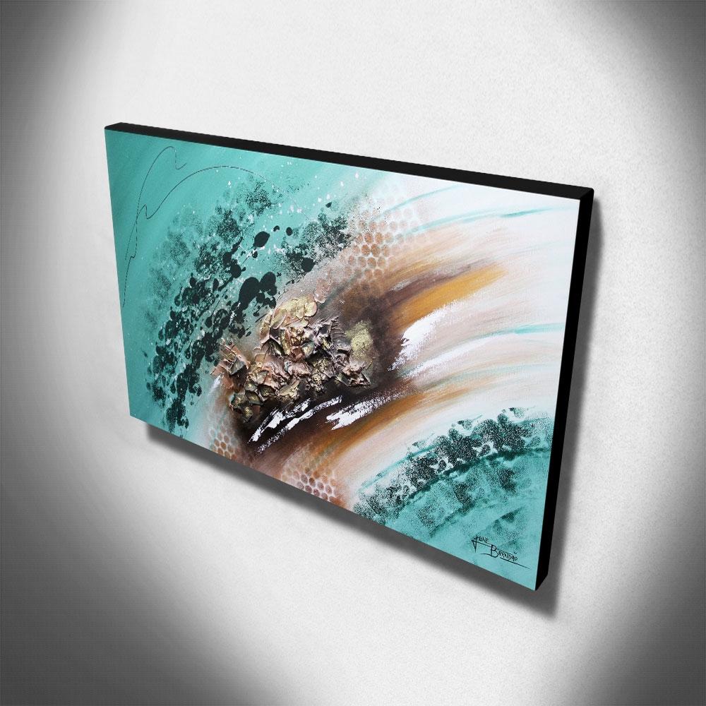 Quadro Decorativo Canvas Abstrato 60x105cm-QA-13