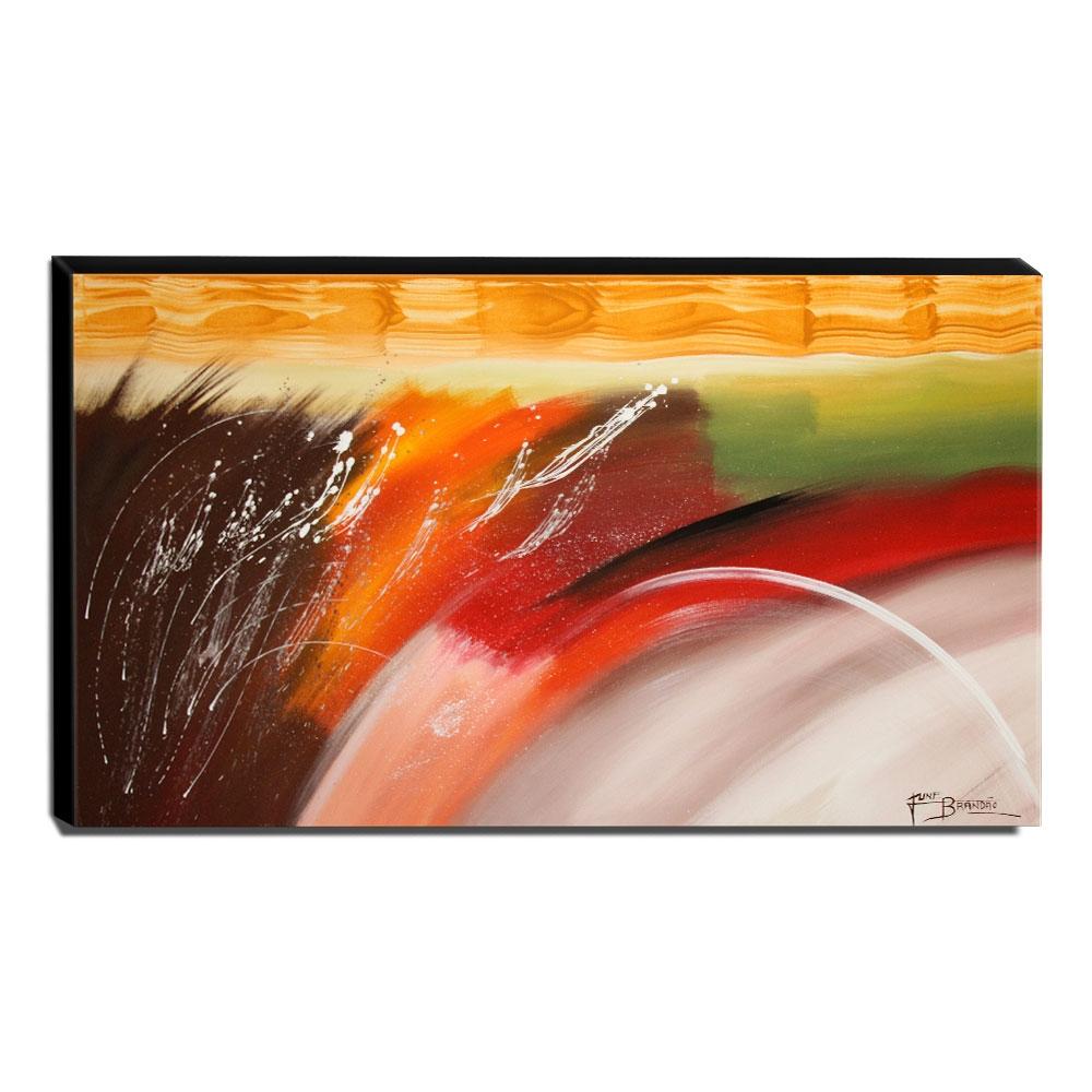 Quadro Decorativo Canvas Abstrato 60x105cm-QA-21