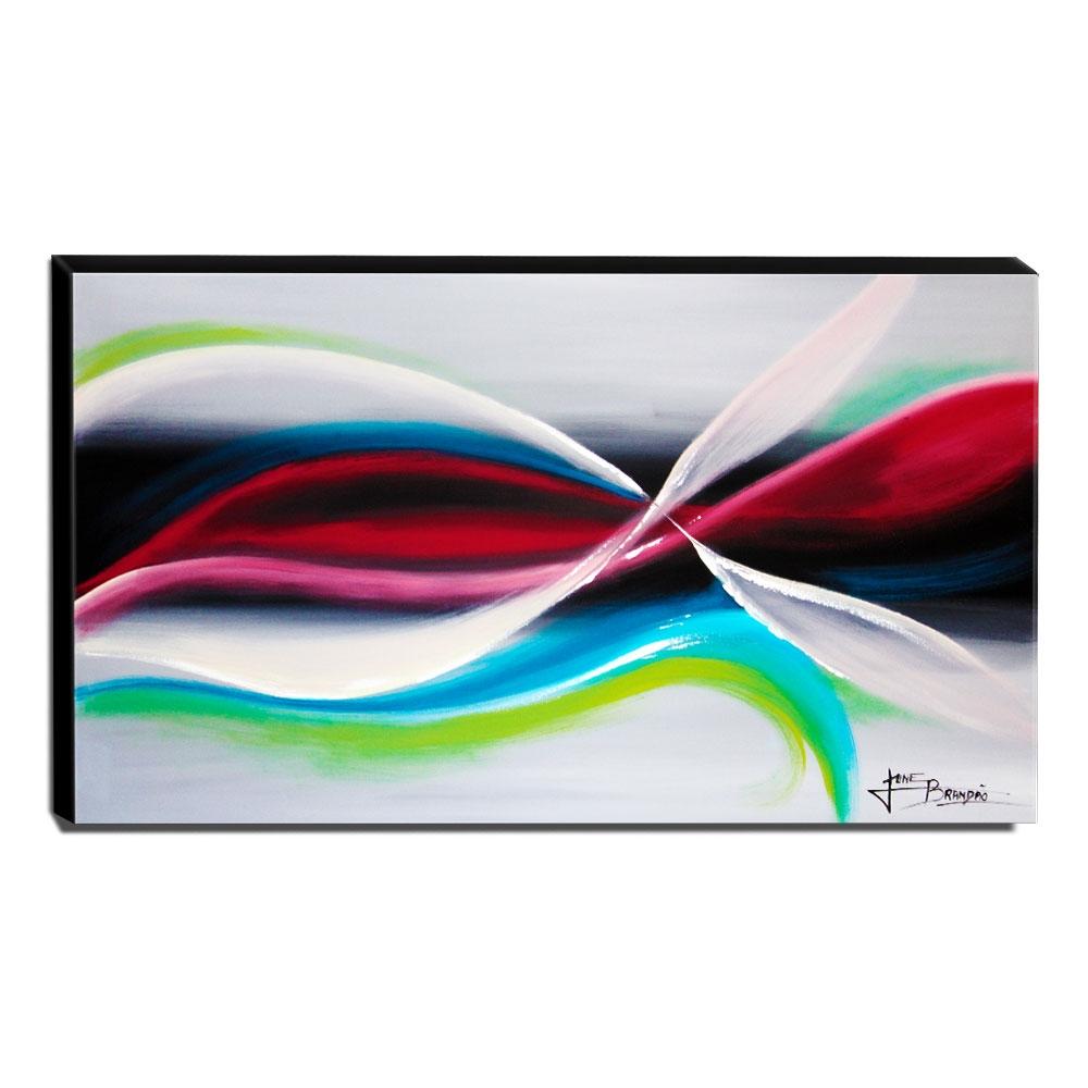 Quadro Decorativo Canvas Abstrato 60x105cm-QA-28