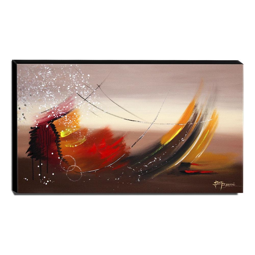 Quadro Decorativo Canvas Abstrato 60x105cm-QA-48