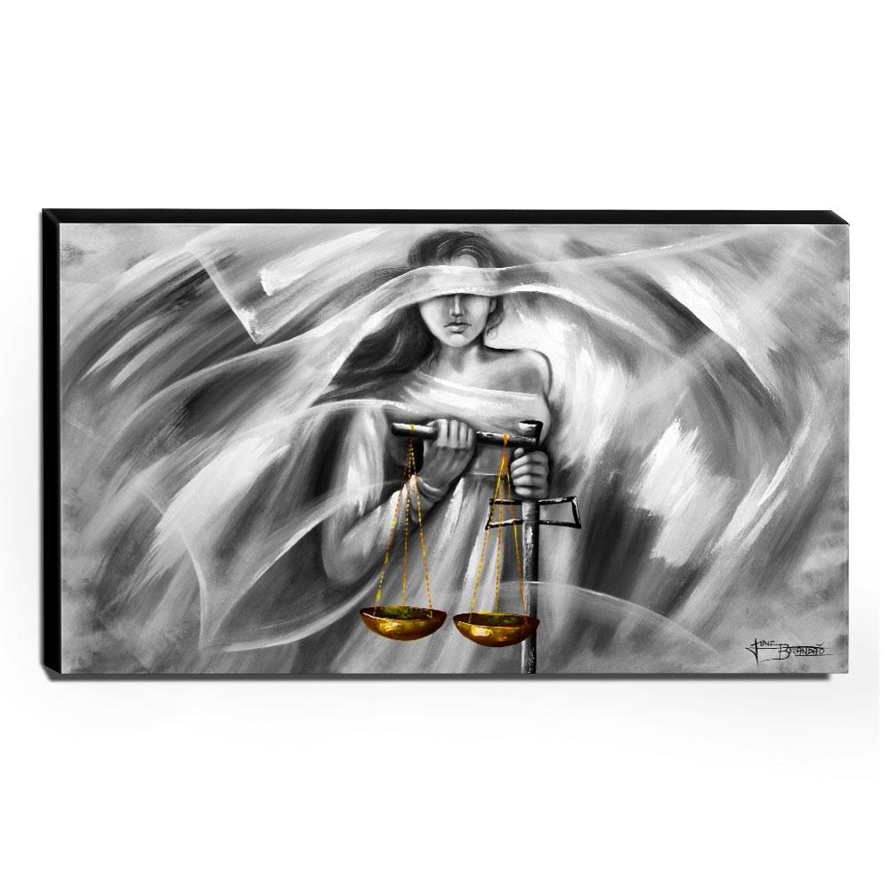 Quadro Decorativo Canvas Deusa da Justiça 60x105cm-QJ10