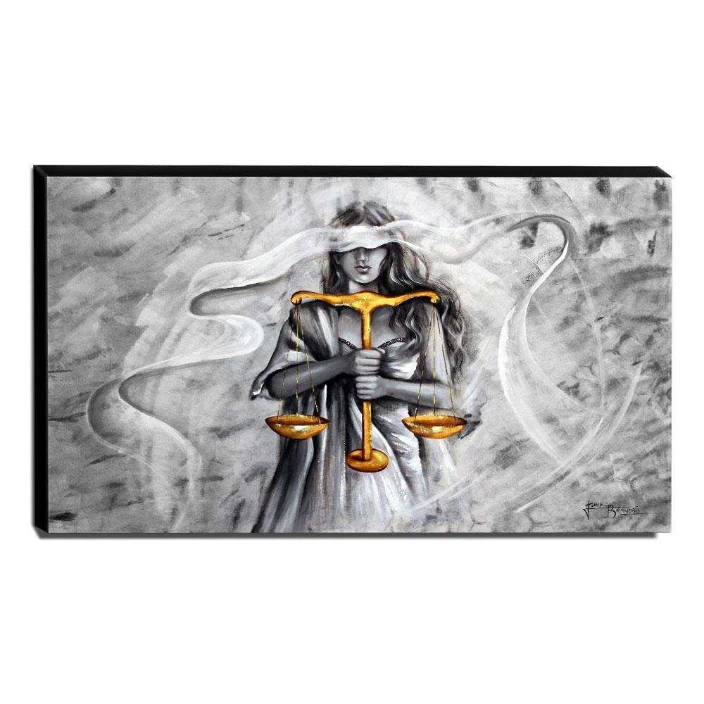 Quadro Decorativo Canvas Deusa da Justiça 60x105cm-QJ20