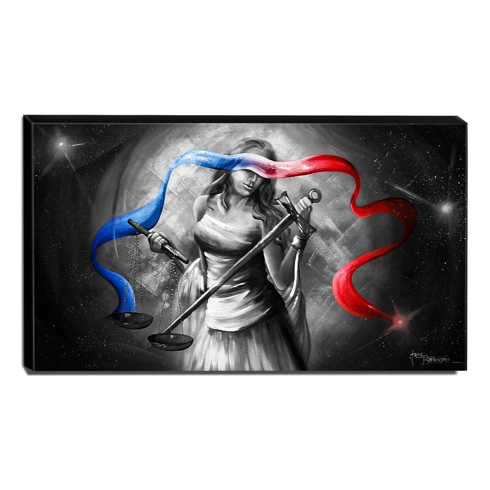 Quadro Decorativo Canvas Deusa da Justiça 60x105cm-QJ24