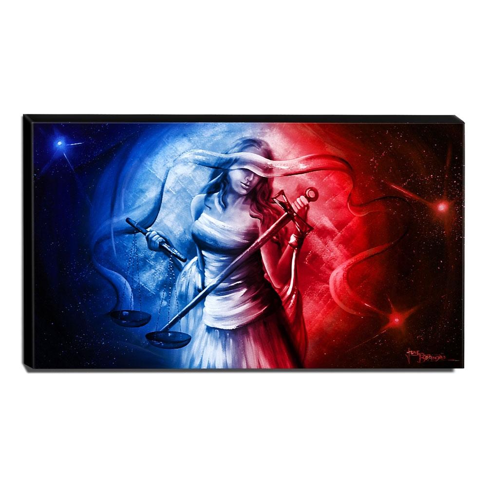 Quadro Decorativo Canvas Deusa da Justiça 70x120cm-QJ23