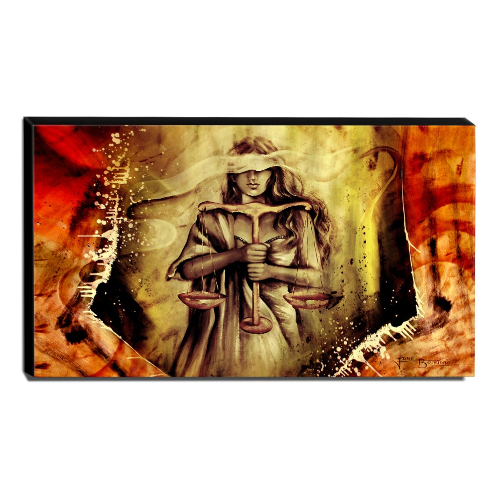 Quadro Decorativo Canvas Deusa da Justiça 70x120cm-QJ7