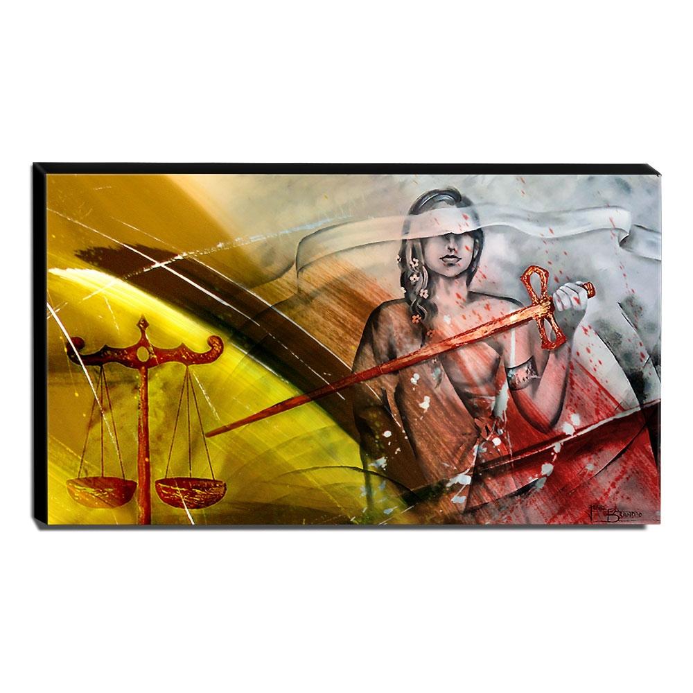 Quadro Decorativo Canvas Deusa da Justiça 70x120cm-QJ8