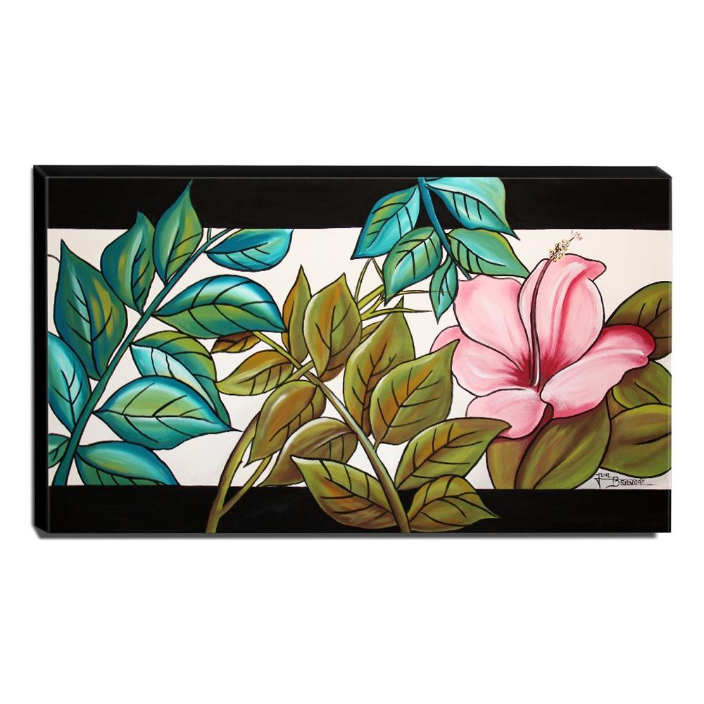 Quadro Decorativo Canvas Floral 60x105cm-QF18