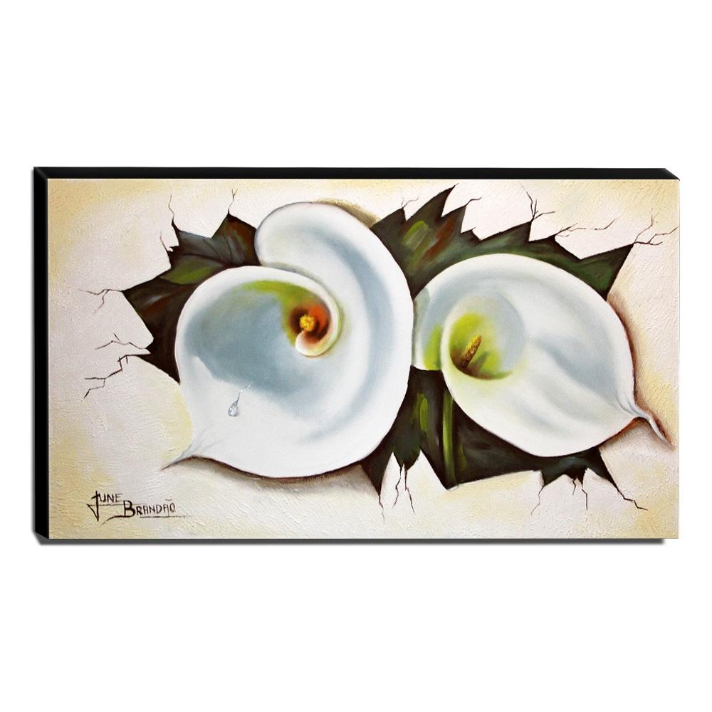 Quadro Decorativo Canvas Floral 60x105cm-QF23