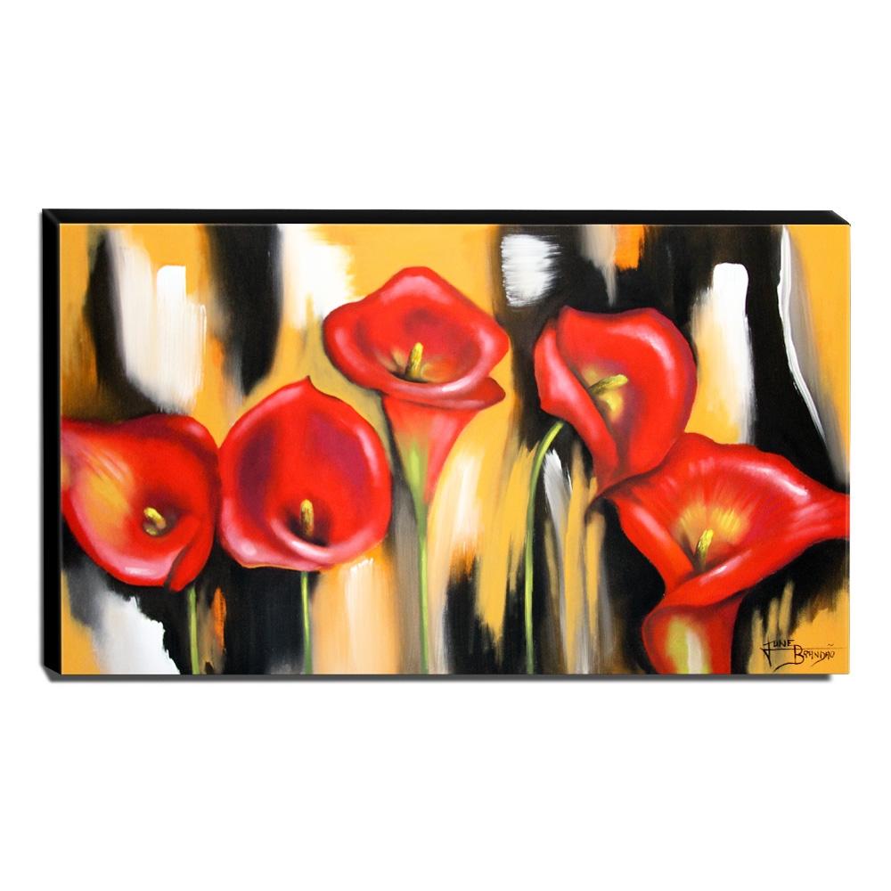 Quadro Decorativo Canvas Floral 60x105cm-QF25