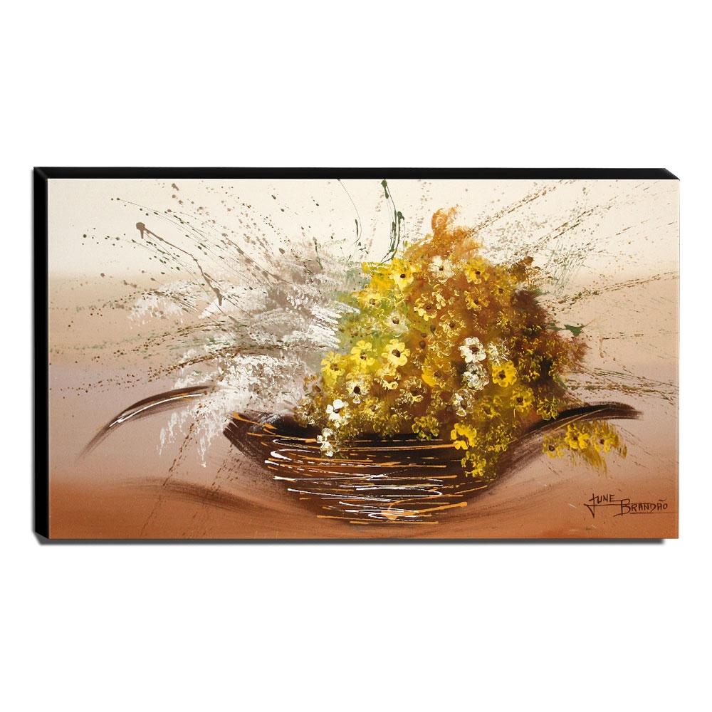 Quadro Decorativo Canvas Floral 60x105cm-QF2