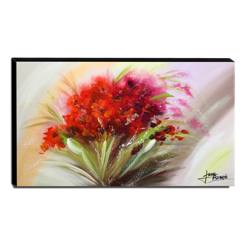 Quadro Decorativo Canvas Floral 60x105cm-QF5