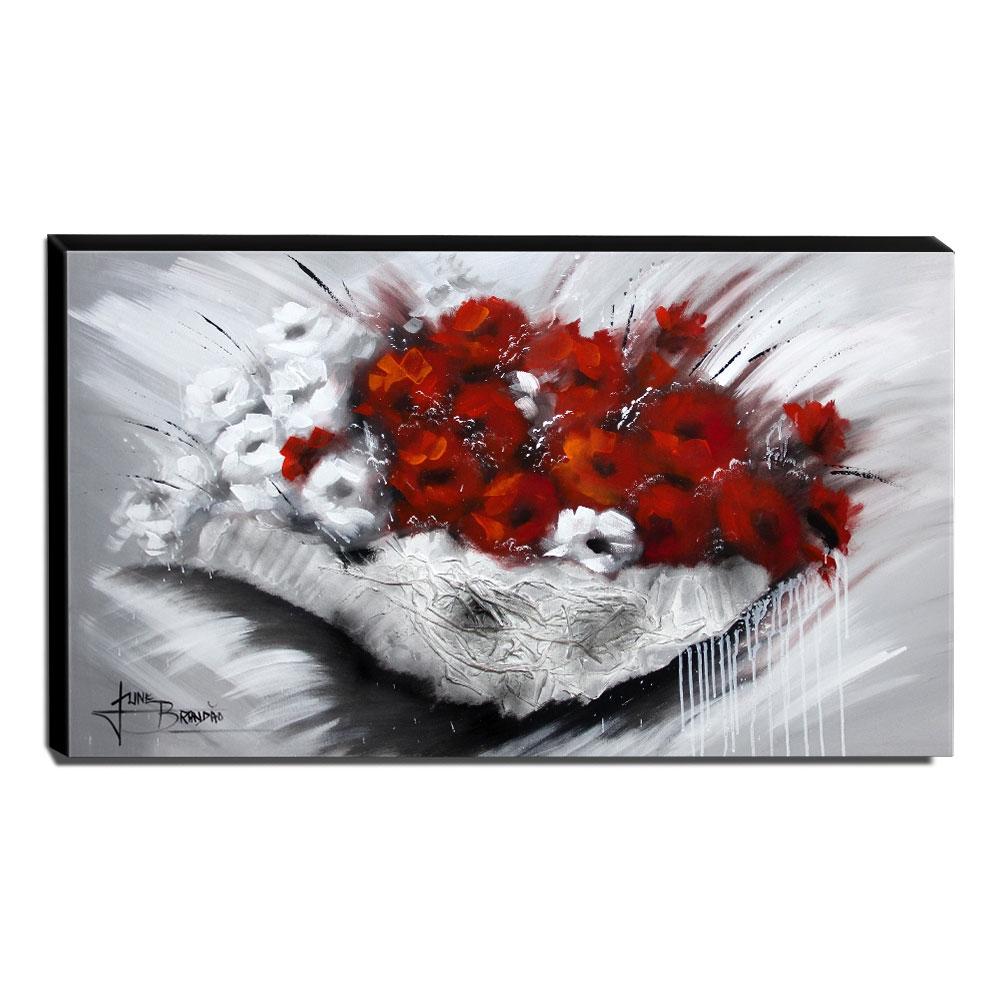 Quadro Decorativo Canvas Floral 60x105cm-QF6
