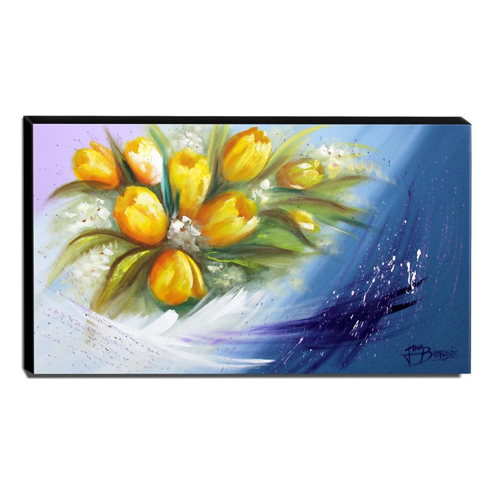 Quadro Decorativo Canvas Floral 60x105cm-QF9
