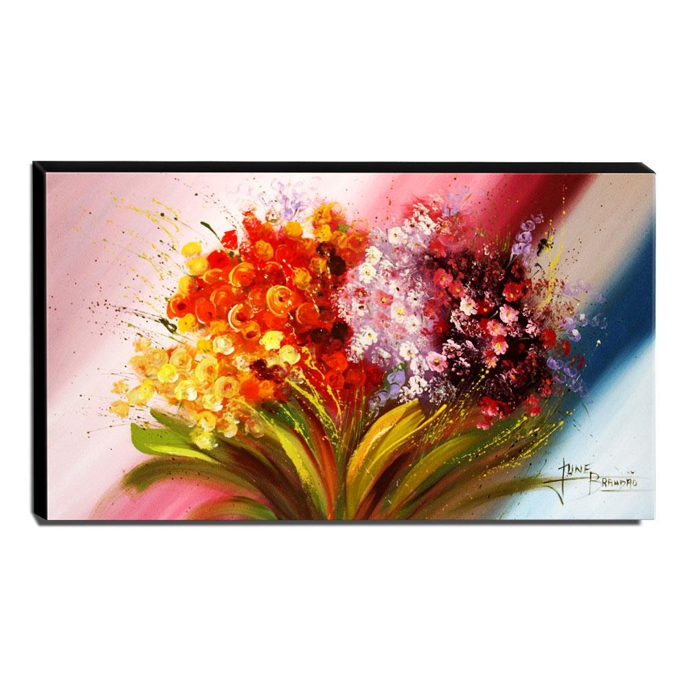 Quadro Decorativo Canvas Flores do Campo 60x105cm