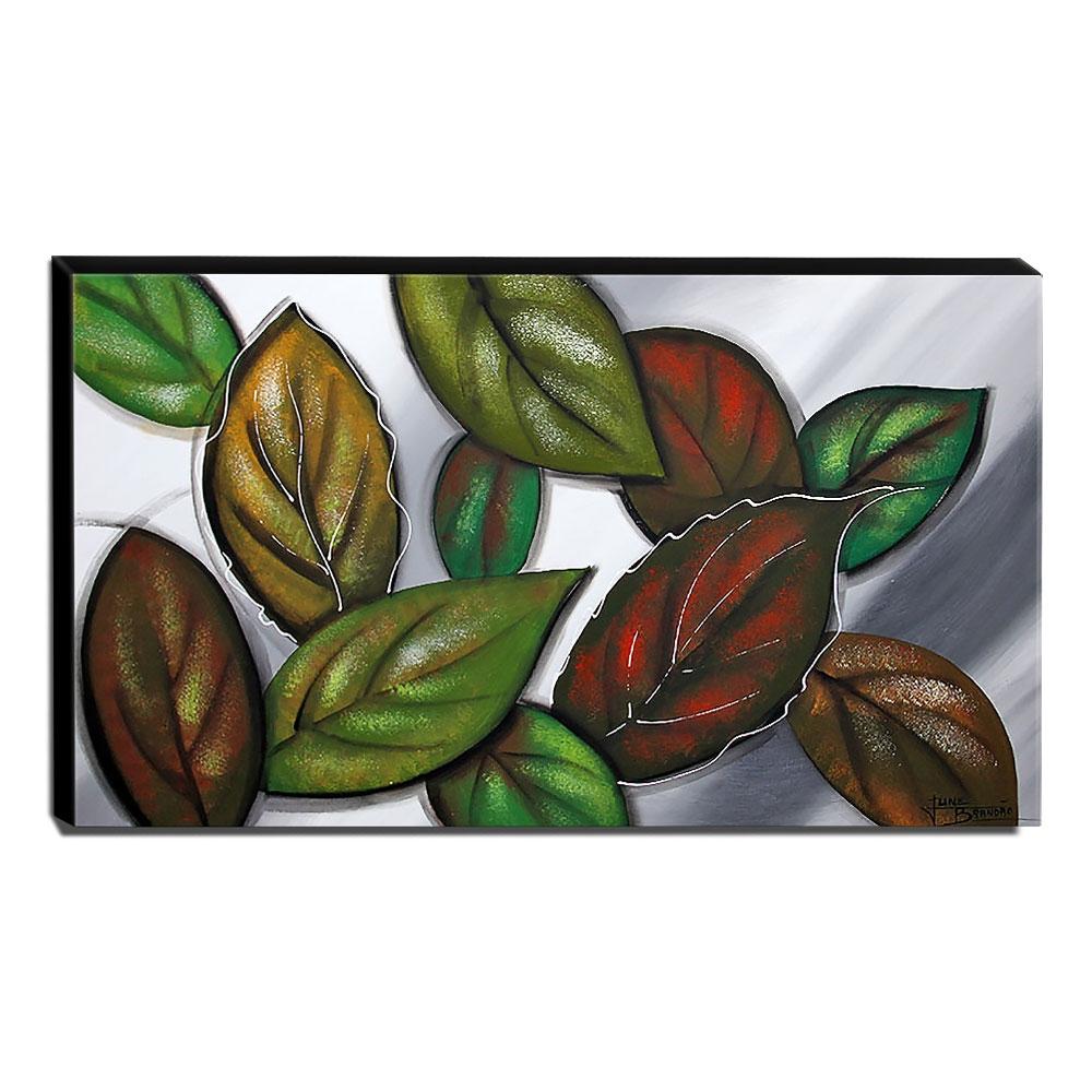 Quadro Decorativo Canvas Folhas 60x105cm